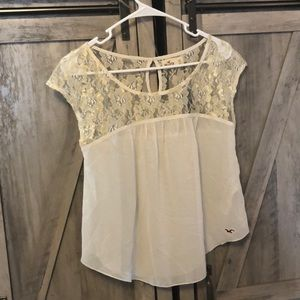 Beautiful Gold Lace Top